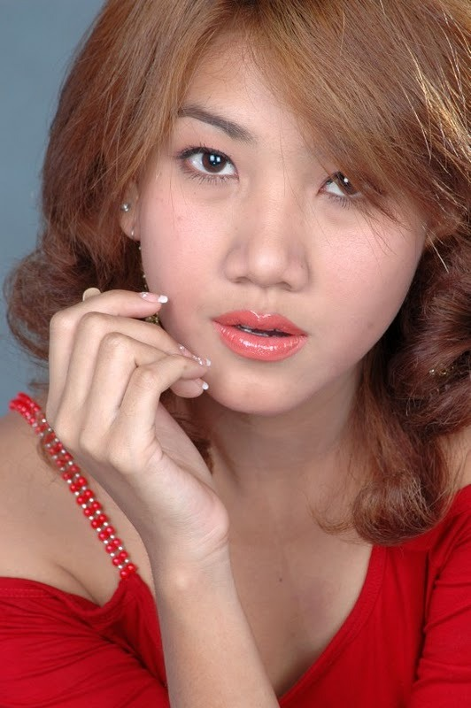 Thazin  Lady In Red  Myanmar Models-7182